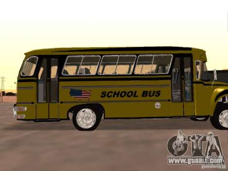 Bedford School Bus for GTA San Andreas back view