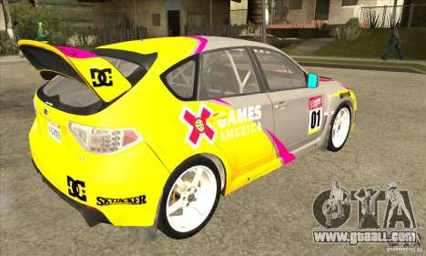 Subaru Impreza WRX STi X GAMES America of DIRT 2 for GTA San Andreas right view
