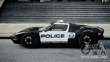 Ford GT1000 Hennessey Police 2006 [EPM][ELS] for GTA 4 left view