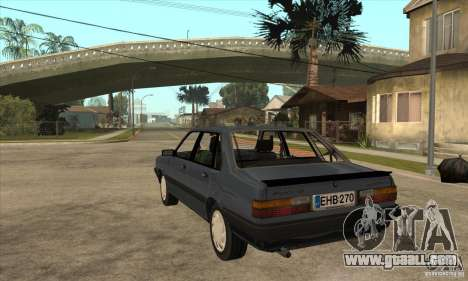 Audi 80 B2 for GTA San Andreas back left view