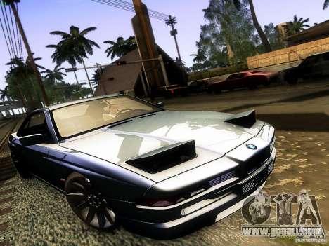 BMW 850 CSI for GTA San Andreas back view