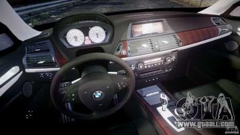 BMW X5 xDrive 4.8i 2009 v1.1 for GTA 4 back view