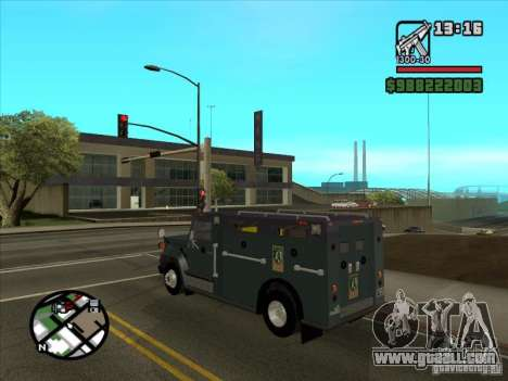 GMC 6000 Armored Truck 1985 for GTA San Andreas left view