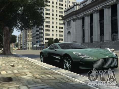 Aston Martin One 77 2012 for GTA 4 back left view