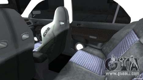 Mitsubishi Lancer Evolution VIII v1.0 for GTA 4 inner view
