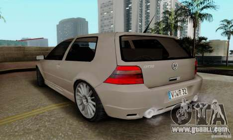 Volkswagen Golf GTI R32 for GTA San Andreas back left view