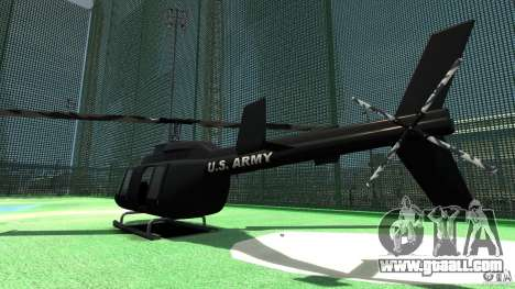 Black U.S. ARMY Helicopter v0.2 for GTA 4 right view