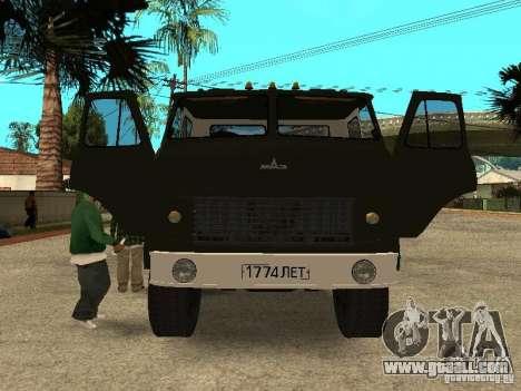 MAZ 515V for GTA San Andreas inner view