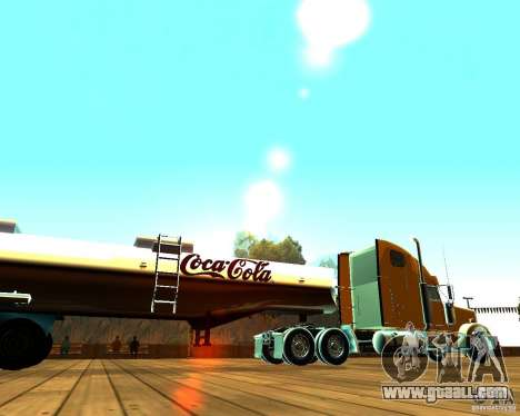 Trailer Of Coca Cola for GTA San Andreas left view