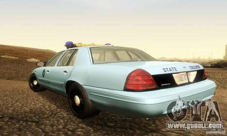 Ford Crown Victoria Maine Police for GTA San Andreas left view