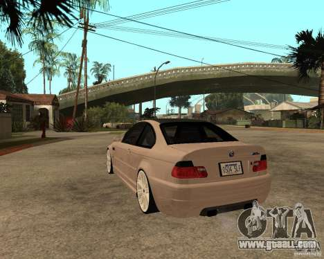 BMW M3 CSL E46 G-Power for GTA San Andreas left view