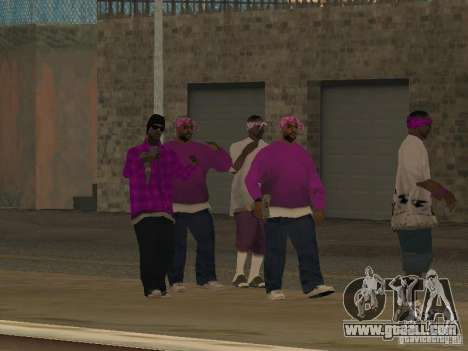 New skins Ballas for GTA San Andreas