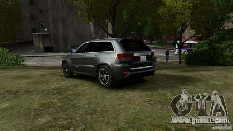 Jeep Grand Cherokee SRT8 for GTA 4 left view