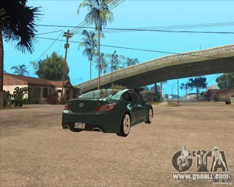 Hyundai Genesis Coupe for GTA San Andreas back left view