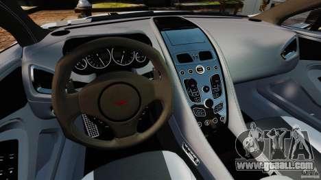 Aston Martin Vanquish 2013 for GTA 4 back view