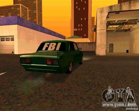 VAZ 2107 Hobo v. 1 for GTA San Andreas left view