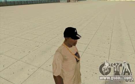 Adidas baseball cap-black for GTA San Andreas third screenshot