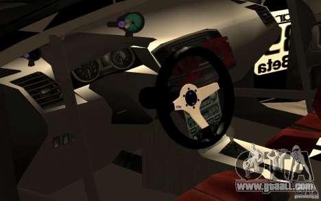 Mitsubishi Lancer Evolution X Monster Energy for GTA San Andreas inner view