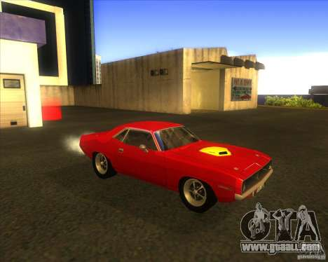 Plymouth Hemi Cuda for GTA San Andreas inner view
