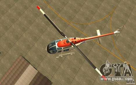 Bell 206 B Police texture2 for GTA San Andreas back view