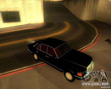 Mercedes-Benz 500SE 1985 for GTA San Andreas back view