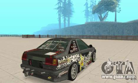 Toyota AE86wrt Rockstar for GTA San Andreas left view