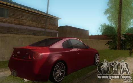 Infiniti G35 - Stock for GTA San Andreas right view