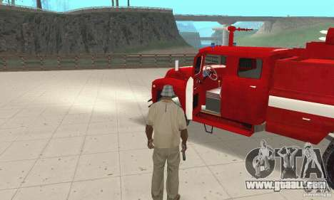 ZIL-130 fire for GTA San Andreas back view