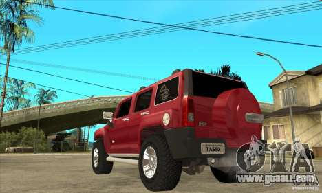 Hummer H3 for GTA San Andreas back left view