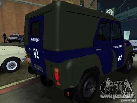 UAZ 3151 Police for GTA San Andreas right view
