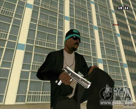 Chrome Weapon Pack for GTA San Andreas second screenshot
