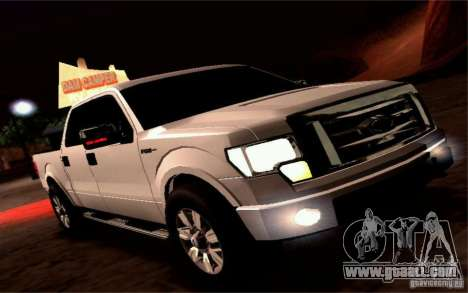 Ford Lobo 2012 for GTA San Andreas back view