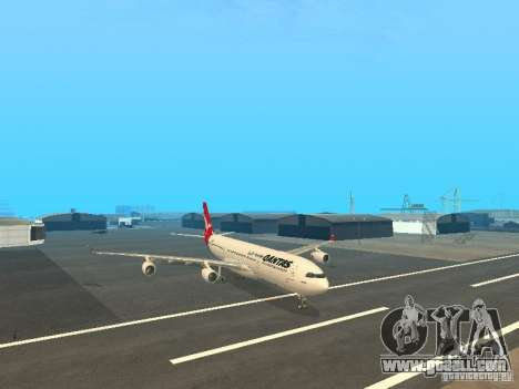 Airbus A340-300 Qantas Airlines for GTA San Andreas back left view