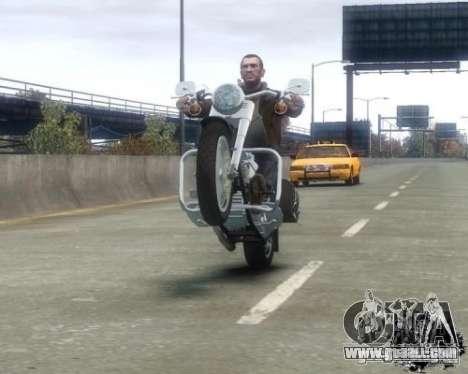Harley Davidson FLSTF Fat Boy for GTA 4 right view