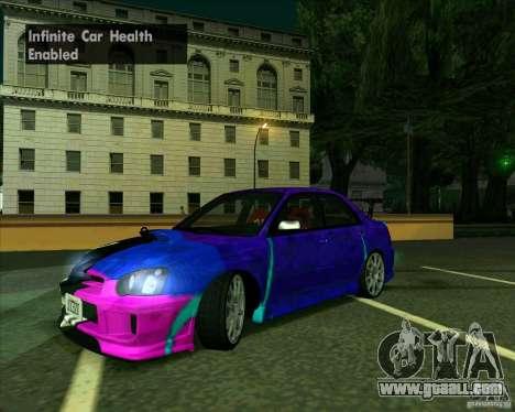Subaru Impreza Tuned for GTA San Andreas