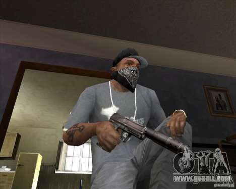 Pistol with silencer for GTA San Andreas