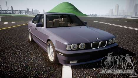 BMW 5 Series E34 540i 1994 v3.0 for GTA 4 inner view