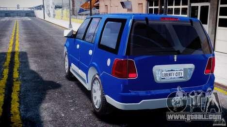 Lincoln Navigator 2004 for GTA 4 back left view
