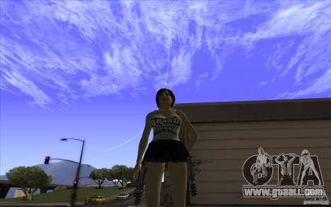 Kaileena big fan for GTA San Andreas second screenshot
