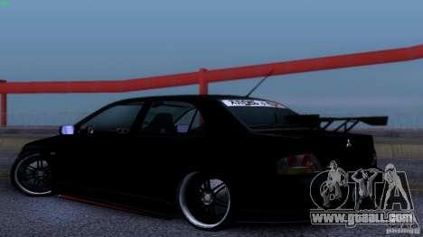 Mitsubishi Lancer Evolution 8 Drift for GTA San Andreas right view