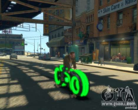 Motorcycle of the Throne (neon green) for GTA 4 right view