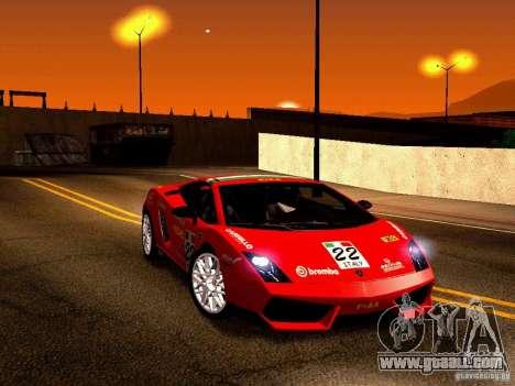 Lamborghini Gallardo LP560-4 for GTA San Andreas side view