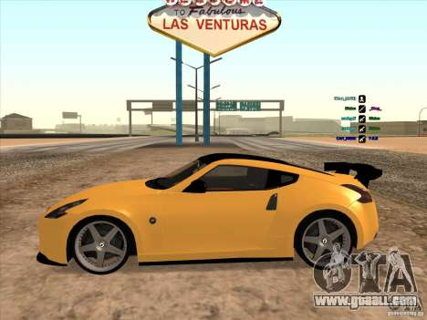 Nissan 370Z for GTA San Andreas back left view