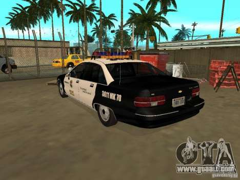 Chevrolet Caprice Police for GTA San Andreas left view