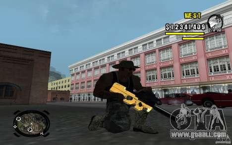 Gold Weapon Pack v 2.1 for GTA San Andreas third screenshot