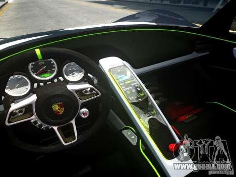 Porsche 918 Spider Body Kit Final for GTA 4 back view