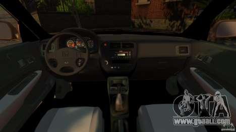 Honda Civic VTI for GTA 4 back view