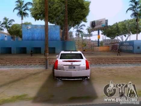 Cadillac CTS-V 2009 for GTA San Andreas back view