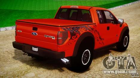 Ford F150 SVT Raptor 2011 for GTA 4 upper view