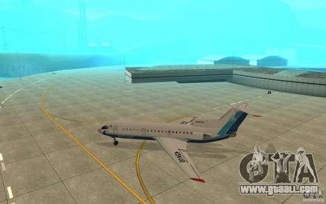 Yak-42 d Scat (Kazakhstan) for GTA San Andreas back left view